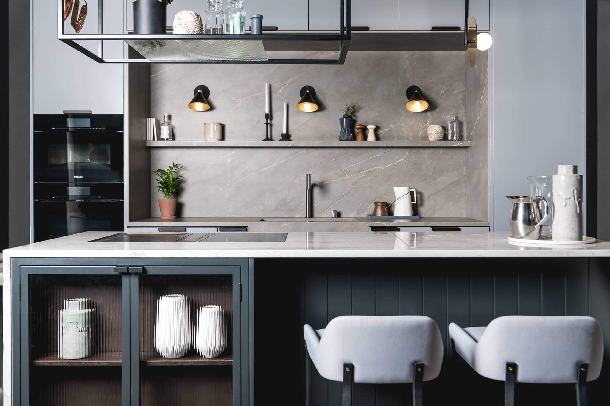 Modern Kitchen with Island in Darker Colours